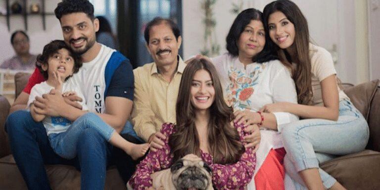 Krishna Mukherjee Family & Sister