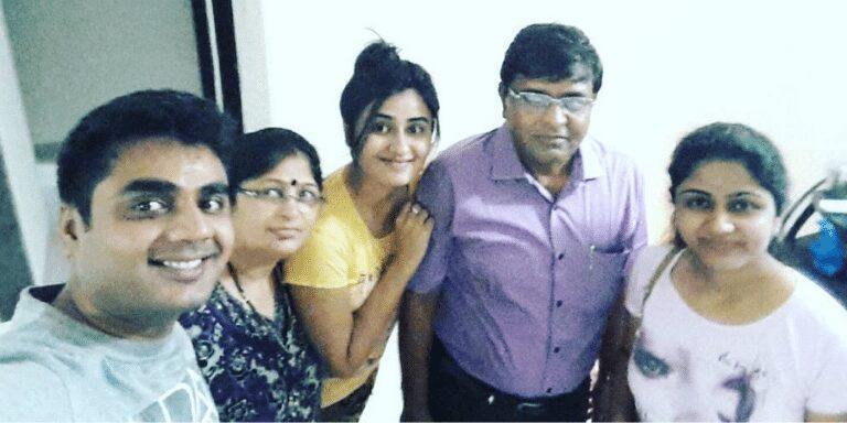 Garima Parihar's family